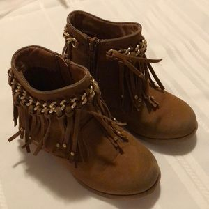 Other - Fringe Low boots